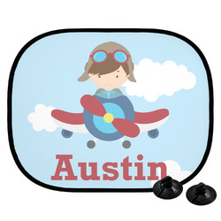 Airplane & Pilot Car Side Window Sun Shade (Personalized)