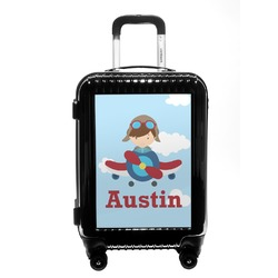 Airplane & Pilot Carry On Hard Shell Suitcase (Personalized)