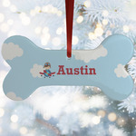Airplane & Pilot Ceramic Dog Ornaments w/ Name or Text