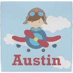 Airplane & Pilot Ceramic Tile Hot Pad (Personalized)