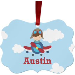 Airplane & Pilot Ornament (Personalized)