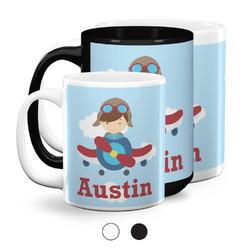 Airplane & Pilot Coffee Mugs (Personalized)