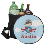 Airplane & Pilot Collapsible Cooler & Seat (Personalized)