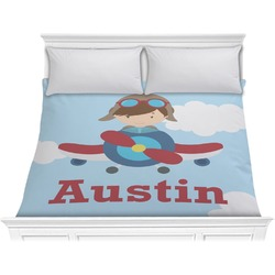 Airplane & Pilot Comforter - King (Personalized)