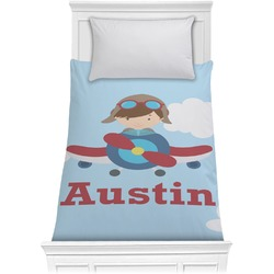 Airplane & Pilot Comforter - Twin (Personalized)