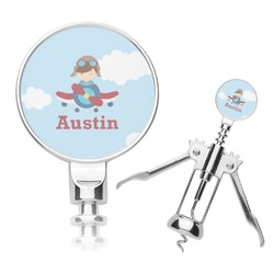 Airplane & Pilot Corkscrew (Personalized)