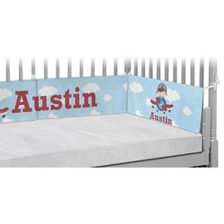 Airplane & Pilot Crib Bumper Pads (Personalized)