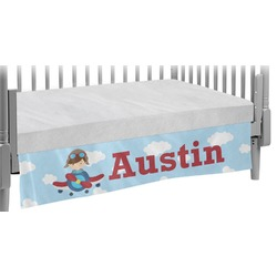 Airplane & Pilot Crib Skirt (Personalized)