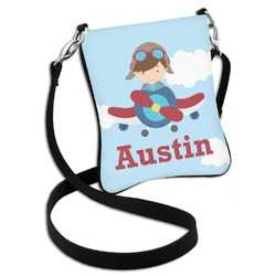 Airplane & Pilot Cross Body Bag - 2 Sizes (Personalized)