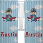 Airplane & Pilot Curtain (Personalized)