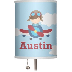 "Airplane & Pilot 7"" Drum Lamp Shade (Personalized)"