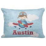 "Airplane & Pilot Decorative Baby Pillowcase - 16""x12"" (Personalized)"