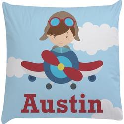Airplane & Pilot Decorative Pillow Case (Personalized)