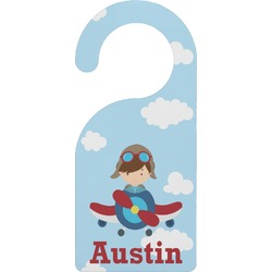 Airplane & Pilot Door Hanger (Personalized)