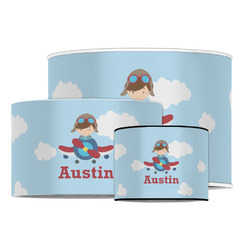 Airplane & Pilot Drum Lamp Shade (Personalized)
