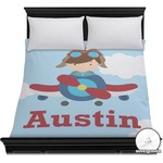 Airplane & Pilot Duvet Cover (Personalized)