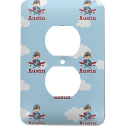 Airplane & Pilot Electric Outlet Plate (Personalized)