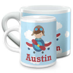 Airplane & Pilot Espresso Cups (Personalized)