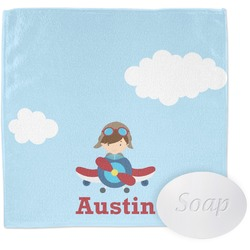 Airplane & Pilot Wash Cloth (Personalized)