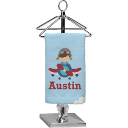 Airplane & Pilot Finger Tip Towel - Full Print (Personalized)