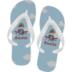 Airplane & Pilot Flip Flops (Personalized)