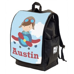 Airplane & Pilot Backpack w/ Front Flap  (Personalized)