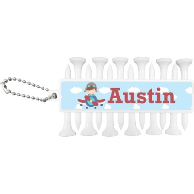 Airplane & Pilot Golf Tees & Ball Markers Set (Personalized)