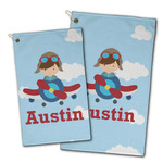 Airplane & Pilot Golf Towel - Full Print w/ Name or Text