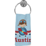 Airplane & Pilot Hand Towel - Full Print (Personalized)