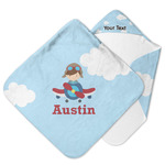 Airplane & Pilot Hooded Baby Towel (Personalized)