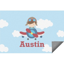 Airplane & Pilot Indoor / Outdoor Rug (Personalized)