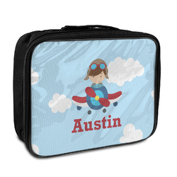 Airplane & Pilot Insulated Lunch Bag (Personalized)