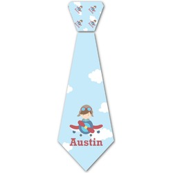 Airplane & Pilot Iron On Tie (Personalized)