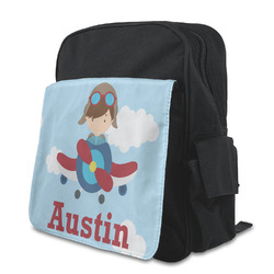 Airplane & Pilot Preschool Backpack (Personalized)