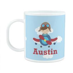 Airplane & Pilot Plastic Kids Mug (Personalized)