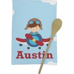 Airplane & Pilot Kitchen Towel - Full Print (Personalized)