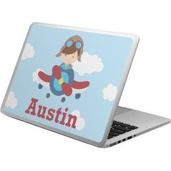 Airplane & Pilot Laptop Skin - Custom Sized (Personalized)