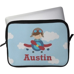 """Airplane & Pilot Laptop Sleeve / Case - 12"""" (Personalized)"""