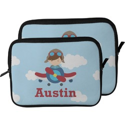 Airplane & Pilot Laptop Sleeve / Case (Personalized)