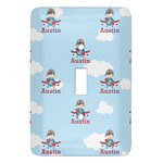 Airplane & Pilot Light Switch Cover (Single Toggle) (Personalized)