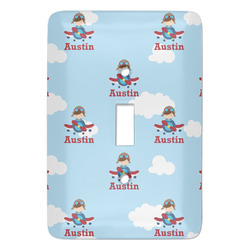 Airplane & Pilot Light Switch Covers - Multiple Toggle Options Available (Personalized)