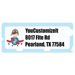 Airplane & Pilot Return Address Labels (Personalized)