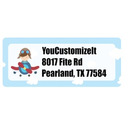 Airplane & Pilot Return Address Labels (Personalized)