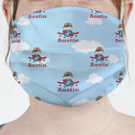 Airplane & Pilot Face Mask Cover (Personalized)