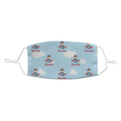 Airplane & Pilot Kid's Cloth Face Mask (Personalized)