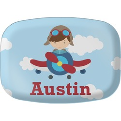Airplane & Pilot Melamine Platter (Personalized)