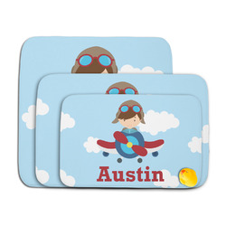 Airplane & Pilot Memory Foam Bath Mat (Personalized)