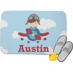 Airplane & Pilot Memory Foam Bath Mat (Personalized)