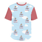 Airplane & Pilot Men's Crew T-Shirt (Personalized)