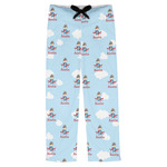Airplane & Pilot Mens Pajama Pants (Personalized)